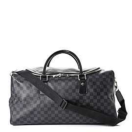 Louis Vuitton Damier Graphite Roadster 50 City Duffle Boston with Strap 861089