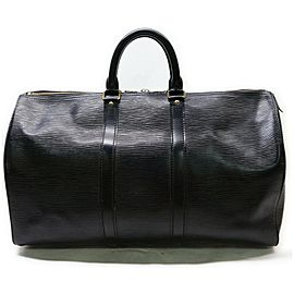Louis Vuitton Black Epi Keepall 45 Duffle Bag PM 862202