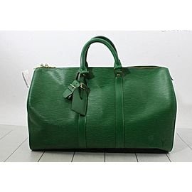 Louis Vuitton Borneo Green Epi Leather Keepall 45 Boston PM Duffle Bag 862123