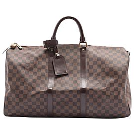 Louis Vuitton Damier Ebene Keepall 50 Duffle Bag