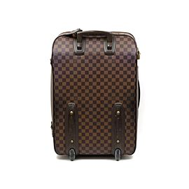 Louis Vuitton Ebene Pesage 60 Rolling Luggage Trolley With Wheels 234111 Brown Damier Canvas Weekend