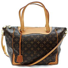 Louis Vuitton Estrela NM 872341 Monogram 2way Brown Coated Canvas Shoulder Bag