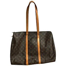 Louis Vuitton Flanerie Duffle Monogram Sac 45 Zip 235539 Brown Coated Canvas Tote