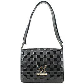 Louis Vuitton Black Damier Vernis Cabaret Club Flap Bag 40lvs625
