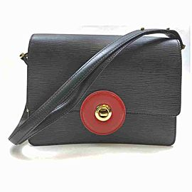 Louis Vuitton Black Epi Noir Friedland Flap Red 860464