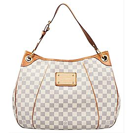 Louis Vuitton Galliera Hobo Cream Damier 227805 Azur Coated Canvas Shoulder Bag