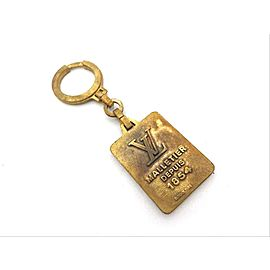 Louis Vuitton Ultra Rare Brass Keychain First Edition 211339