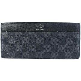 Louis Vuitton Graphite Clutch Damier Card Case Coated Canvas 871164 Wallet
