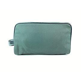 Louis Vuitton Green Taiga Nylon Palana Cosmetic Pouch Toiletry Case 18LV0