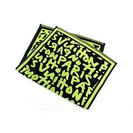 Louis Vuitton (Rare) Stephen Sprouse Graffiti Headband Wristband Towel Set 237574