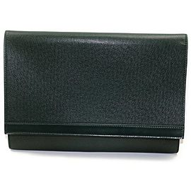 Louis Vuitton Porte Document Volga Fold Clutch Taiga Leather Portfolio 872793