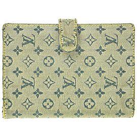 Louis Vuitton Grey Monogram Mini Lin Small Ring Agenda PM Diary Cover 340lvs519