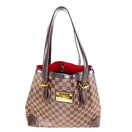 Louis Vuitton Hampstead Damier Ebene Mm 11la528 Brown Coated Canvas Tote