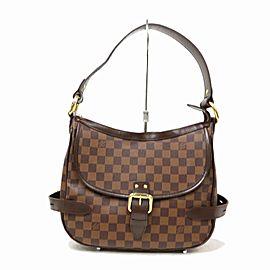 Louis Vuitton Highbury Damier Ebene 871544 Brown Coated Canvas Shoulder Bag