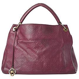Louis Vuitton Bordeaux Aurore Empreinte Leather Monogram Artsy MM Hobo Bag 861836