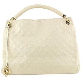 Louis Vuitton Ivory Neige Monogram Empreinte Leather Artsy MM Hobo Bag 655lvs617