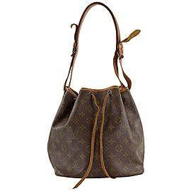 Louis Vuitton Monogram Petite Noe Drawstring Bucket Hobo Bag 7LVS1211