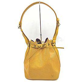 Louis Vuitton Yellow Epi Leather Noe Petit Drawstring Bucket Hobo Bag 863040
