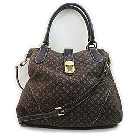 Louis Vuitton Brown Monogram Mini Lin Elegie 2way Hobo Bag 857966