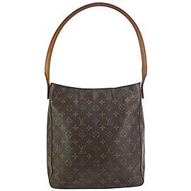 Louis Vuitton Monogram Looping GM Zip Hobo Bag 831lv35