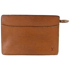 Louis Vuitton Homme 20lr1122 Brown Leather Clutch