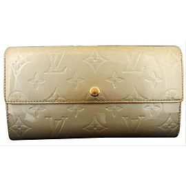 Louis Vuitton Monogram Vernis Blanc Corail Sarah Bifold Long Wallet