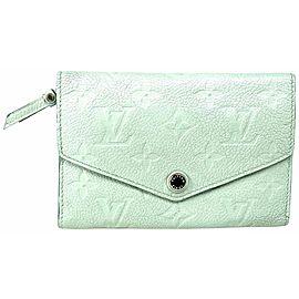 Louis Vuitton Ivory Monogram Empreinte Leather Compact Curieuse 3lva73 Wallet