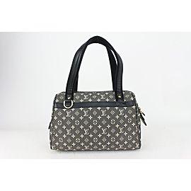 Louis Vuitton Charcoal Black Monogram Mini Lin Josephine PM Speedy Boston 823lv15
