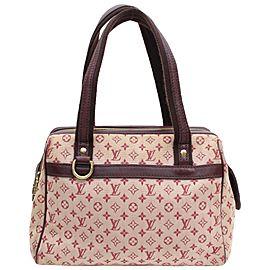 Louis Vuitton Josephine Bordeaux Monogram Mini Lin 868443 Burgundy Canvas Satchel
