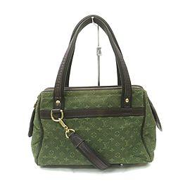 Louis Vuitton Khaki Green Monogram Mini Lin Josephine PM Speedy Bag wit Strap 863380