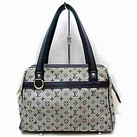 Louis Vuitton Josephine Pm Boston 860048 Gray Monogram Mini Lin Satchel