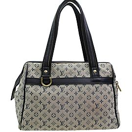 Louis Vuitton Navy Grey Monogram Mini Lin Josephine Boston Speedy 8661490