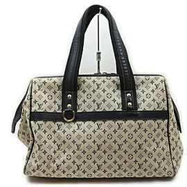 Louis Vuitton Blue Monogram Mini Lin Josephine GM Speedy Boston 861549