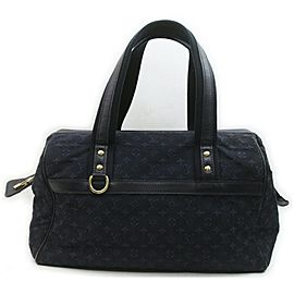 Louis Vuitton Navy Monogram Mini Lin Josephine GM Boston Speedy 861723
