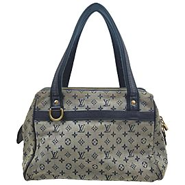 Louis Vuitton Blue Monogram Mini Lin Josephine PM Boston Speedy 861745