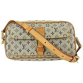 Louis Vuitton Navy x Grey Monogram Mini Lin Juliette MM Crossbody 819lv73