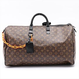 Louis Vuitton Virgil Abloh Monogram Chain Keepall Bandouliere 50 Duffle 2lm32lv