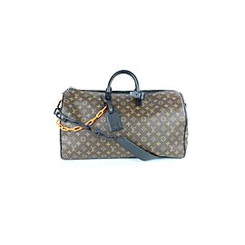 Louis Vuitton Runway Virgil Abloh ss19 Monogram Chain Bandouliere Keepall 50 3LZ0114
