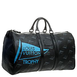 Louis Vuitton Waterproof LV Cup Dubai Black Keepall Bandouliere 55 with Strap 862040