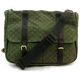 Louis Vuitton Khaki Sac Maman 871708 Green Monogram Mini Lin Canvas Diaper Bag