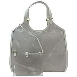 Louis Vuitton Lagoon Bay Plage Baia Coconut Epi with Pouch 871666 Clear Vinyl Tote