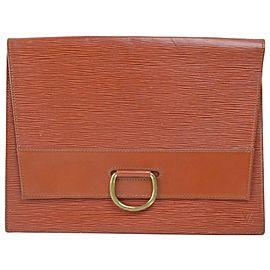 Louis Vuitton Brown Epi Lena Fold Over Clutch 8671089
