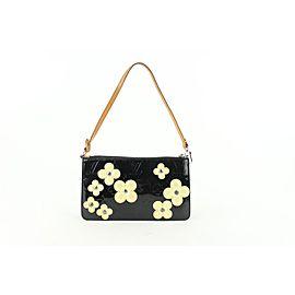 Louis Vuitton Black Monogram Vernis Fleurs Lexington Pochette Wristlet Bag 523lvs610