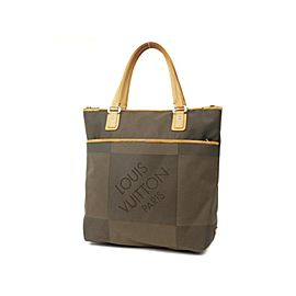 Louis Vuitton Limited Edition Damier Cougar 226782 Terra Geant Canvas Tote