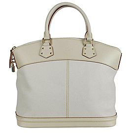 Louis Vuitton Lockit Mm 1la54 Ivory Suhali Leather Tote