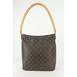 Louis Vuitton Monogram Looping GM Zip Hobo Bag 824lv36