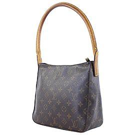 Louis Vuitton Looping Mm 223064 Brown Monogram Canvas Hobo Bag