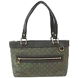 Louis Vuitton Lucille Khaki Monogram Mini Lin Pm 870001 Green Canvas Shoulder Bag