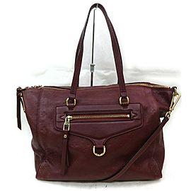 Louis Vuitton Lumineuse Pm 2way Tote 872702 Bordeaux Monogram Empreinte Leather Shoulder Bag