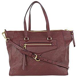 Louis Vuitton Bordeaux Monogram Empreinte Leather Lumineuse PM 2way Tote Bag 15lv729